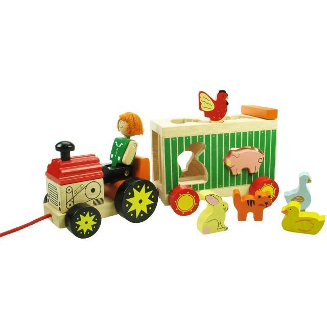 BJ ED 4041 Traktor met sorteer kar