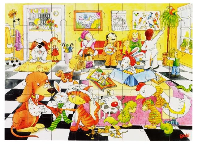 D 8657622 Puzzel bij de dierenarts