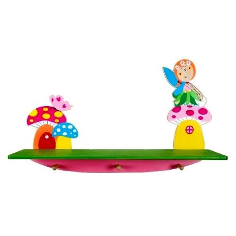 HS 7266 Kapstok/Boekenplank Elf op paddestoel