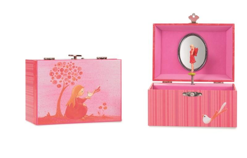 ET 570516 Muziek en sieradendoosje roze Prinses