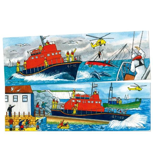 BJ 051 Duo puzzel reddingsboot