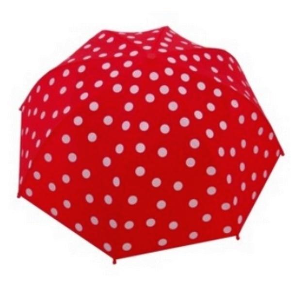 HS 7574 Paraplu rood met witte stippen