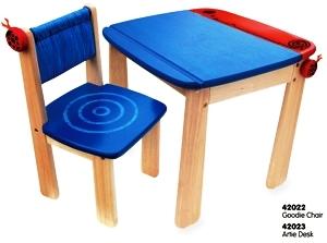 PT 42023 Tekentafel met rol blauw