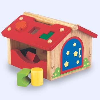 A F 5198 Huisje met geometrische blokken