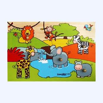 A W 6211 Puzzel wilde dieren klein