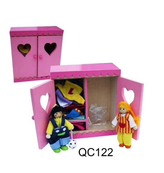 CT QC 122 Linnenkast met buigpopjes kinderen