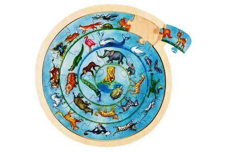 D 8657790 Puzzel dierencirkel