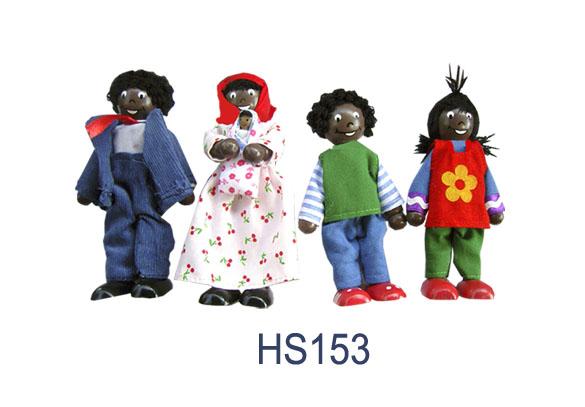 CT HS 153 Buigpopjes Afrikaanse familie met baby