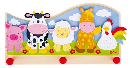 D 8660848 Kapstok dieren op de boerderij