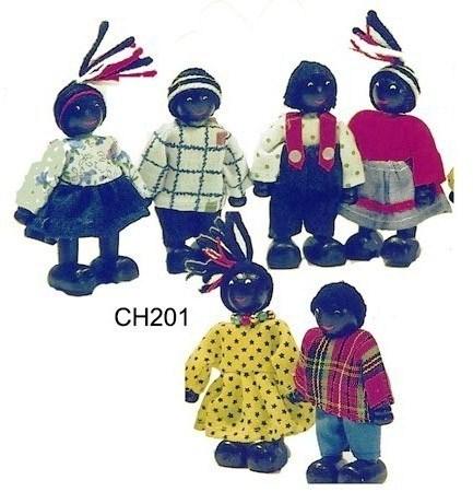 CT CH 201 Buigpopjes Afrikaanse kinderen