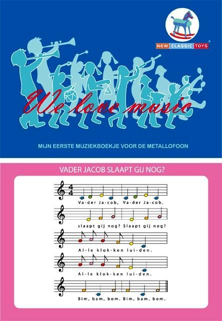 NCT 0190 Muziekboekje voor de metallofoon