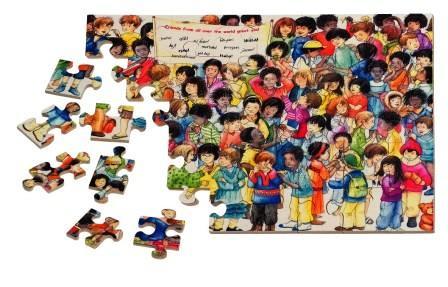 W 706751 Wereld vrienden puzzel