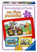 BB 065738 Puzzel Graafmachine, Tractor en Kiepauto