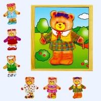A V 6403 Aankleedpuzzel beer